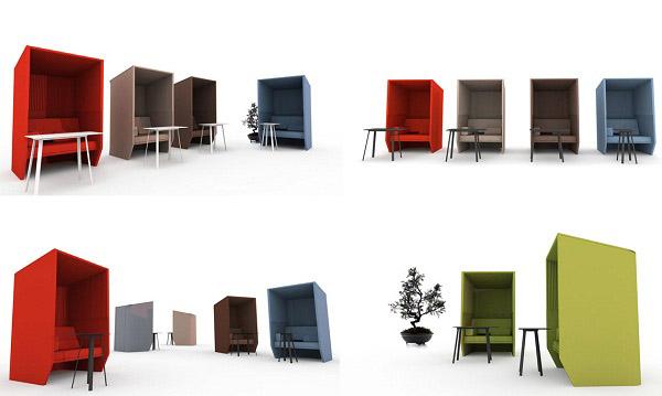 modern office furniture desks with hoods