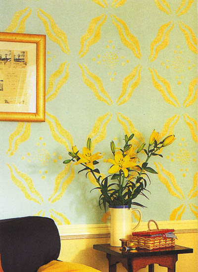 Stenciling Images and Patterns on Walls and Furniture, 21 Charming ...