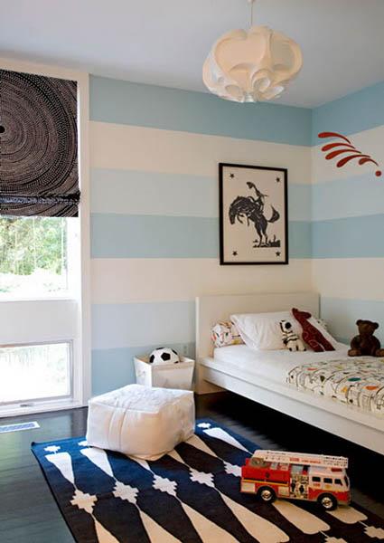 Horizontal Stripes On Walls 15 Modern