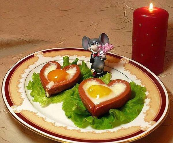 heart meal for valentines day