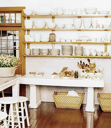 Wall Shelves Decorating Ideas Kitchen: Retro Modern Kitchen Decorating Ideas, Open Kitchen