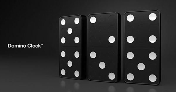 Domino Clock In Black And White Colors New Design Idea For