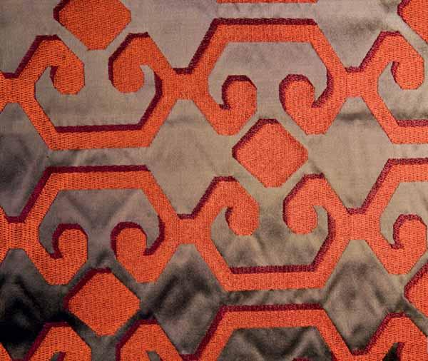 bold orange color and modern decoration patterns
