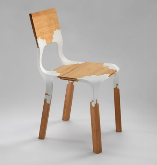 light wood and plastic chair design