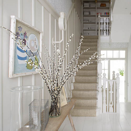 Fragile And Graceful Flowering Branches In White Pink Purple Yellow Colors Bring A Splash Of Color Into Your Spring Home Decorating Ideas
