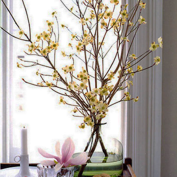 Fragile And Graceful Flowering Branches In White, Pink, Purple And Yellow  Colors Bring A Splash Of Color Into Your Spring Home Decorating Ideas, ...