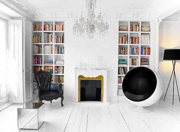 Contemporary Interior Design Ideas Built In Book Shelves