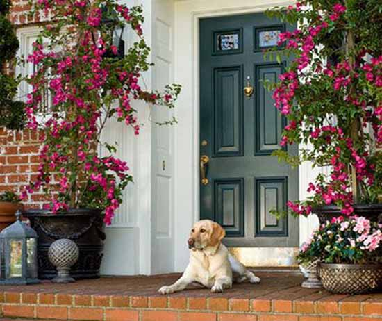 More Front Yard Porch And Door Decorating Ideas