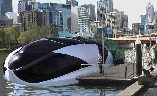 futuristic floating home design concept