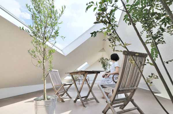 outdoor furniture and indoor plants