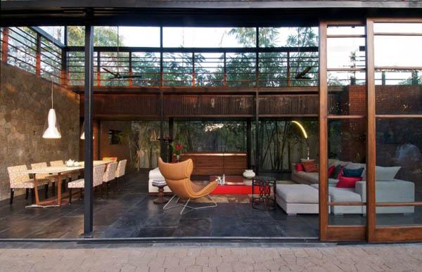 Brick And Wood In Modern Houses Kiln House Design