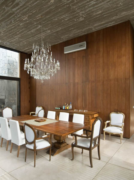 Ideas For Rooms With Wood Paneling: Wood And Concrete In Modern Houses, La Boyita Residence By