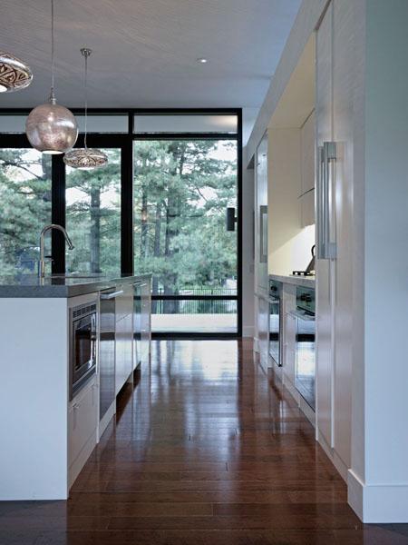 modern kitchen design in white color