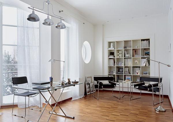 White Office Interior White