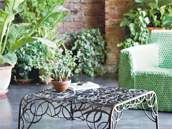 wrought iron furniture for outdoor decor