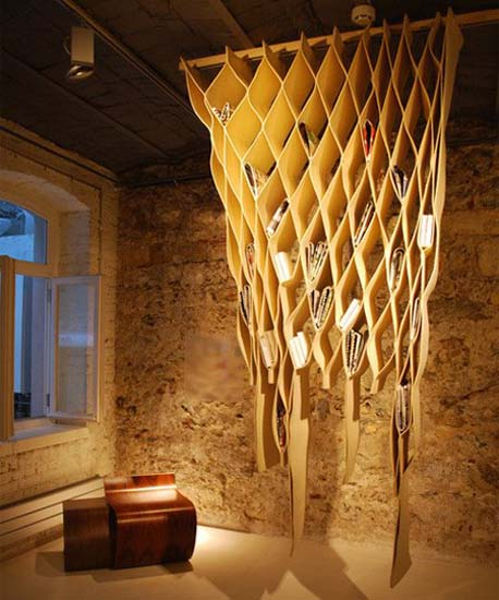 Hanging Shelving Unit, Unusual And Unique Storage Ideas For Creative  Interior Decorating