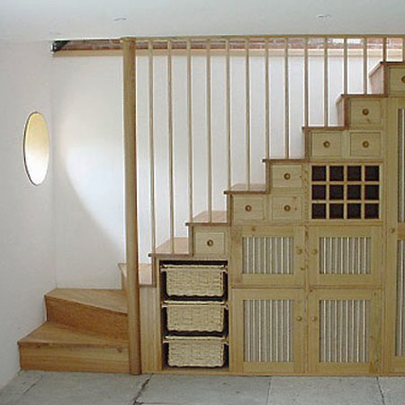 Modern Storage Ideas For Small Spaces Staircase Design With Storage