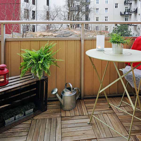 Apartment Balcony Decorating Seating Areas Terraces