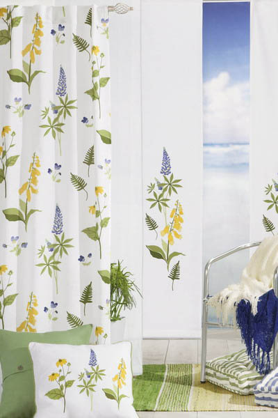 light window curtains with floral designs