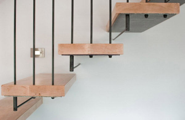 Wood And Steel Staircase ...