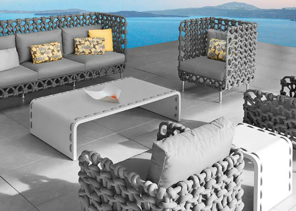 designer furniture made of fabric tubes