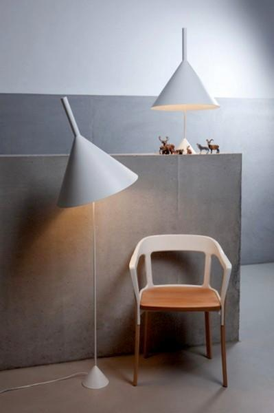 pendant lights that look like upside down funnels