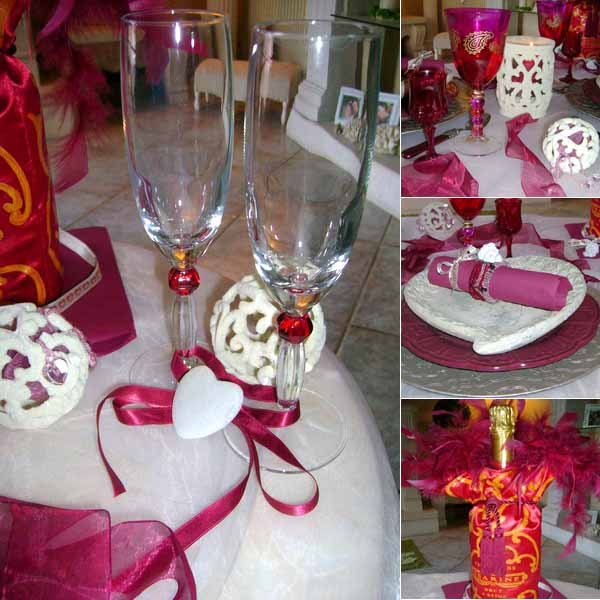 Table Decorating Ideas For Valentines Day, Pink Ribbons