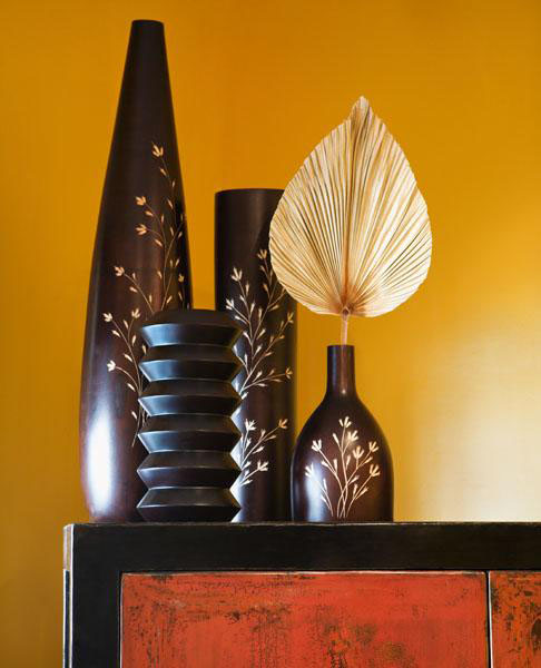 Beautiful Vases For Interior Decorating Black And Dark Brown Home Accessories