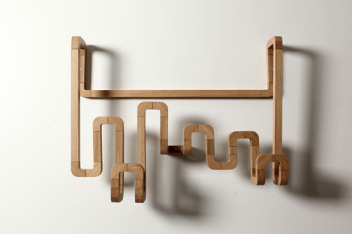 coat rack made of wood