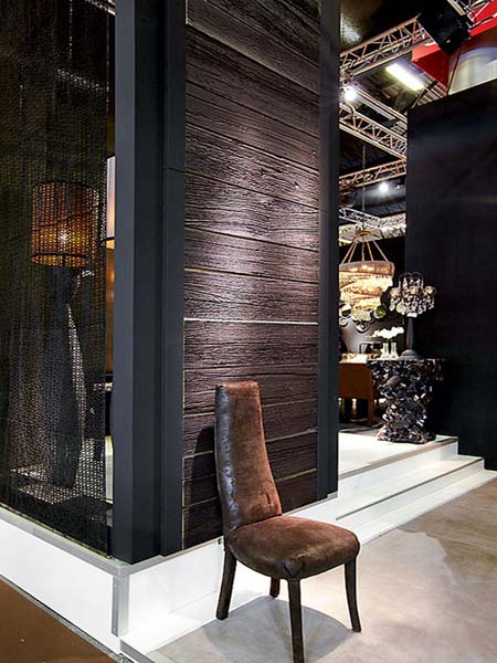 Decorative Wall Paneling In Dark Brown Color, Natural Eco Friendly Products  For Modern Interior Design