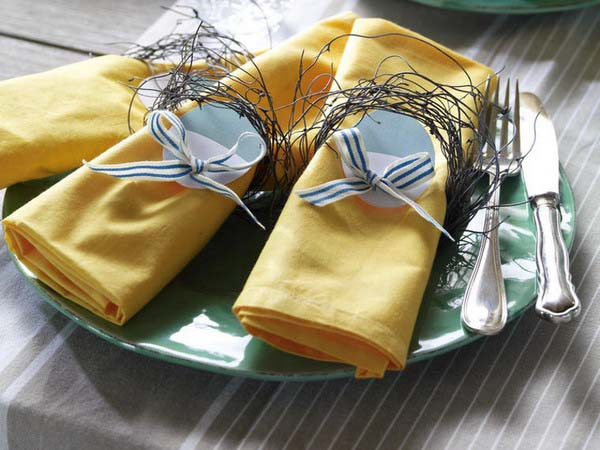 15 easter ideas spring holiday table decoration with napkins and