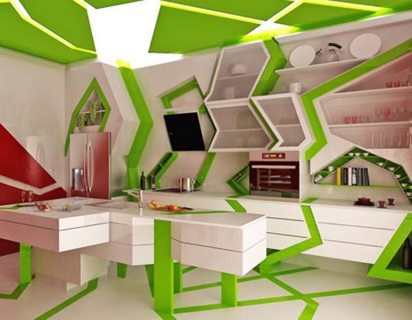 Modern Kitchen Design By Gemelli Design Orange And Green Colors Inspiration Modern Kitchen Colors