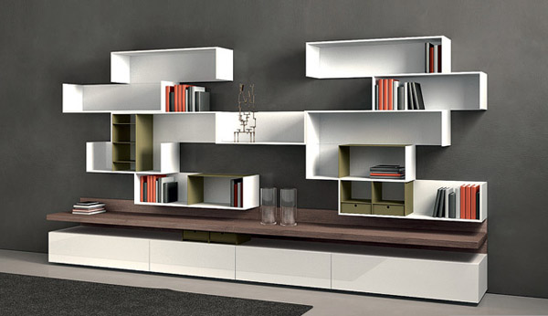 Modular Shelving Units For Modern Wall Decoration And Storage