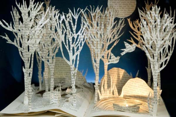 recycling paper sculptures