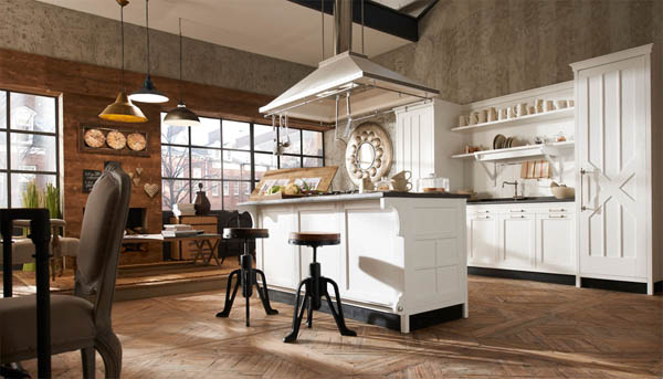 Retro Kitchen Design Ideas From Marchi Group Vintage Furniture And Inspiration Retro Kitchen Design Pictures