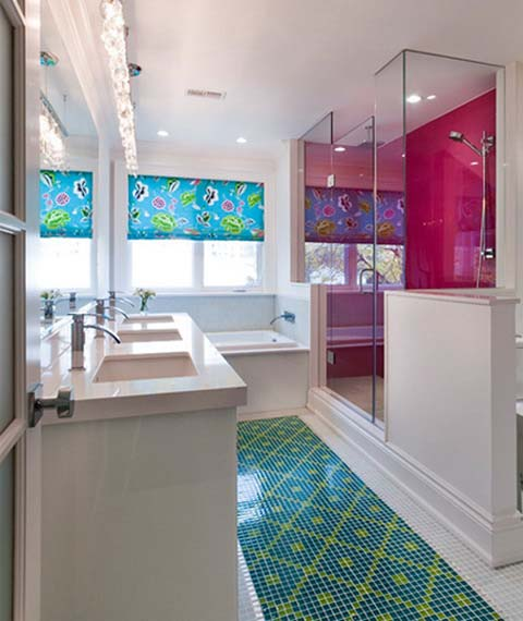Matchbox 20 Bright Lights Bathroom Window: Bright Color Combinations For Interior Decorating By Holly