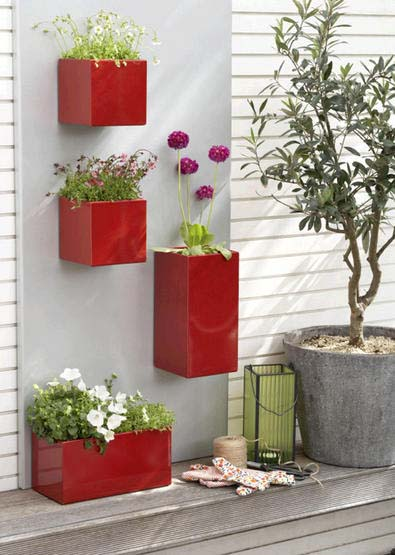 Wonderful House Exterior Decorating With Flowers In Modern Containers, Porch, Terrace  Or Balcony Decorating Ideas