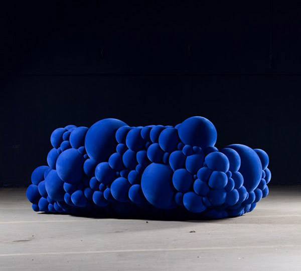 Blue Sofa From Mutation Furniture Collection, Modern Furniture Design Ideas
