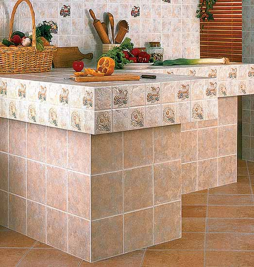 kitchen tiles for wall and countertop