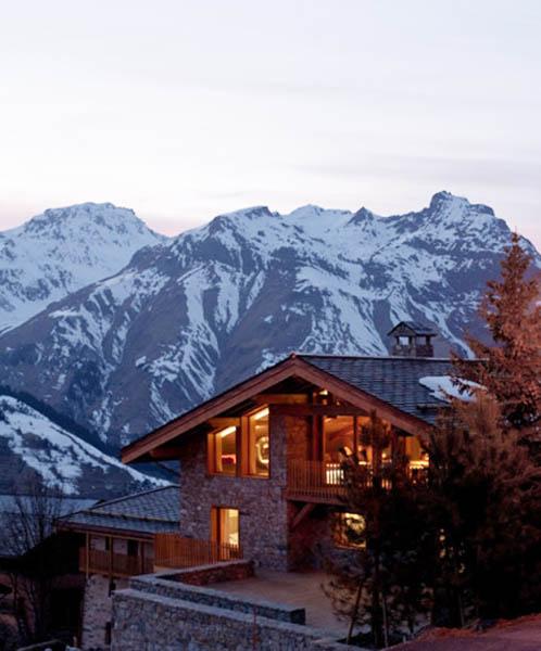 Super modern house design contemporary chalet in french alps - Moderner chalet stil ...