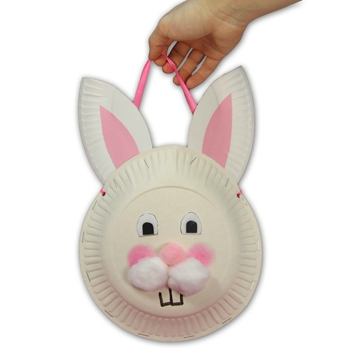 Easter Bunny gift idea paper ...  sc 1 st  Lushome & Easter Bunny Basket Made of Paper Plates Easter Craft Ideas for Kids