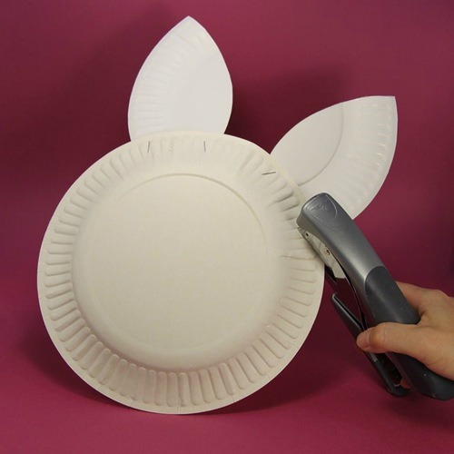 Easter Bunny Basket Made Of Paper Plates Easter Craft Ideas For Kids