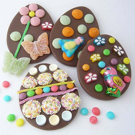 chocolate cookies with floral designs