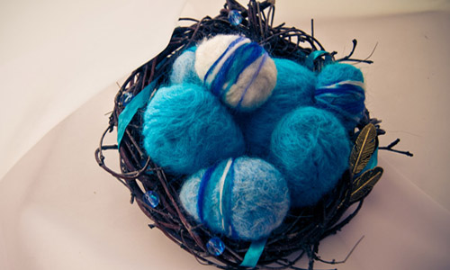 Easter Craft Ideas Handmade Nests With Felt Birds And Easter Egg