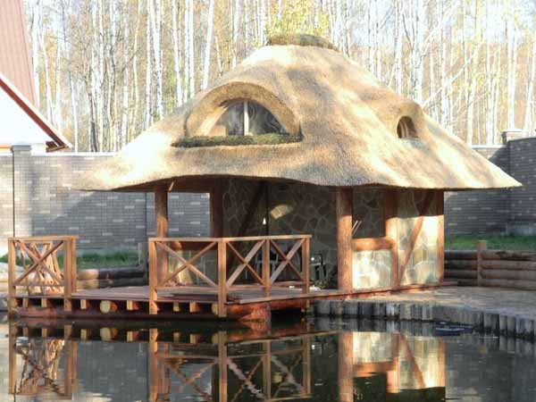 Thatched Roofing For Gazebos And Sheds Gorgeous Backyard Designs
