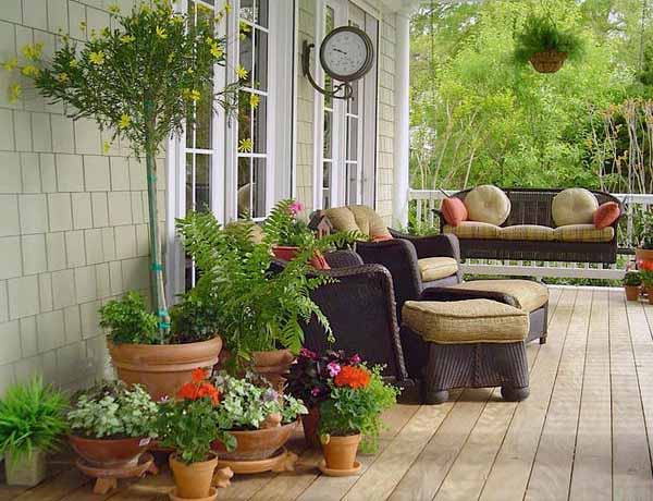 Porch Decorating With Plants And Flowers Improving Home Front Eal
