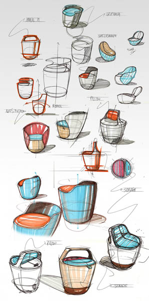 modern furniture design sketches