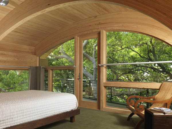 Organic Design Ideas Guest House Design With Curved Wood