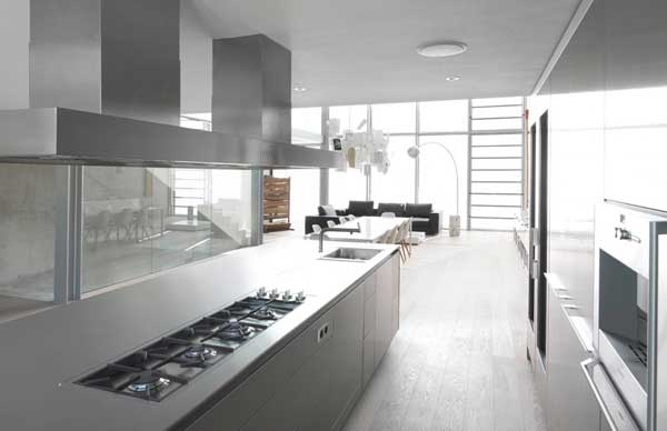 Contemporary Kitchen Design And Living Room