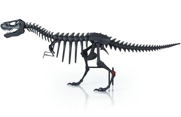 dinosaur shaped radiator in black color